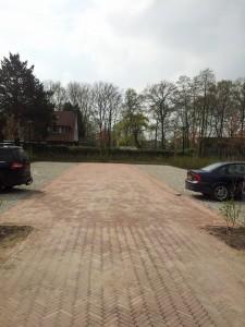 parkeerplaats voor onze bezoekers op Metgensbleek